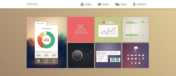 Metrofy - free blogger templates 2014