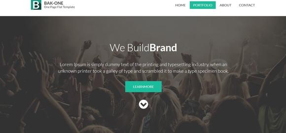 Bak One - website templates