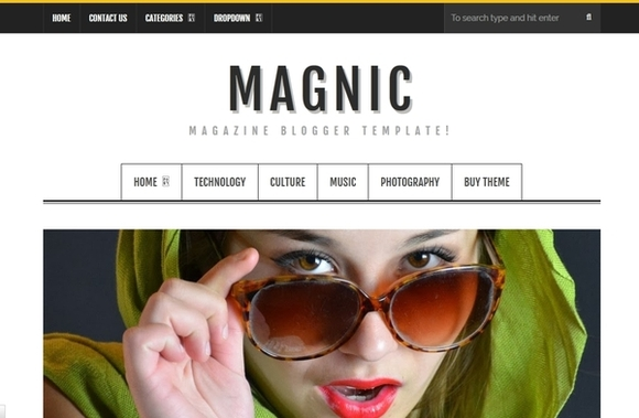 Magnic - best blogger templates