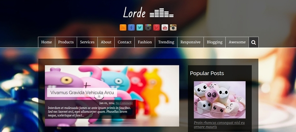 Lorde Dark - best blogger templates