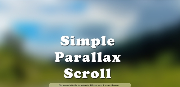 A Simple Parallax Scrolling Technique - jquery parallax scrolling tutorials