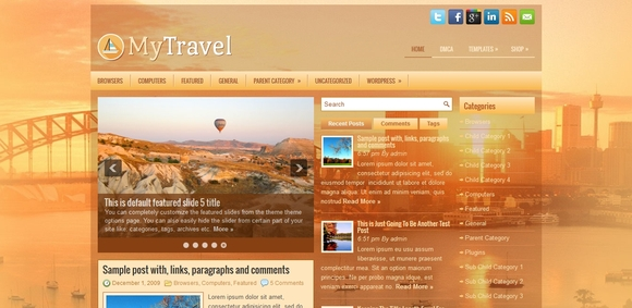 MyTravel - free wordpress themes 2014