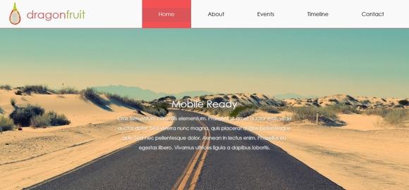 dragonfruit - free website templates