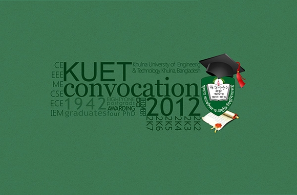 Kuet Convocation - typography design