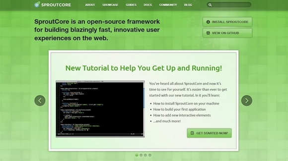 SproutCore - html5 frameworks 2014,