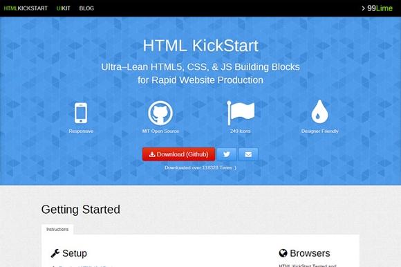 HTML KickStart - html5 frameworks 2014,