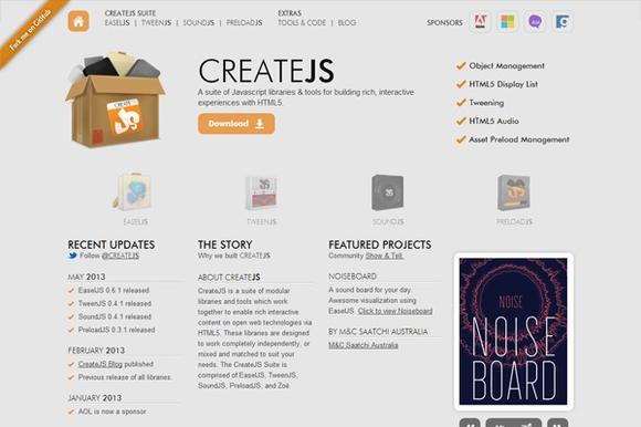 CreateJS - html5 frameworks