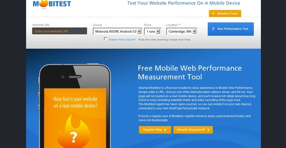 Mobitest - free web design tools
