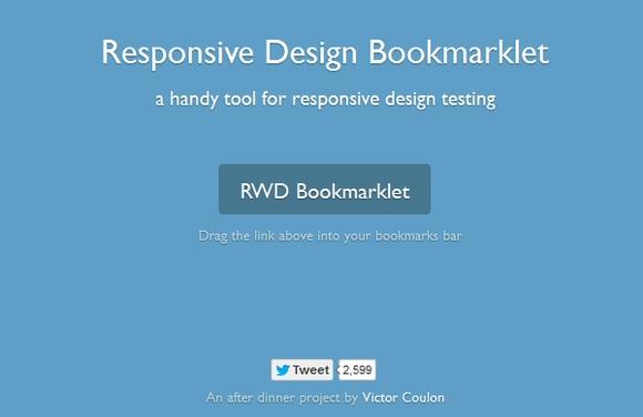 RWD Bookmarklet - free responsive design testing tools