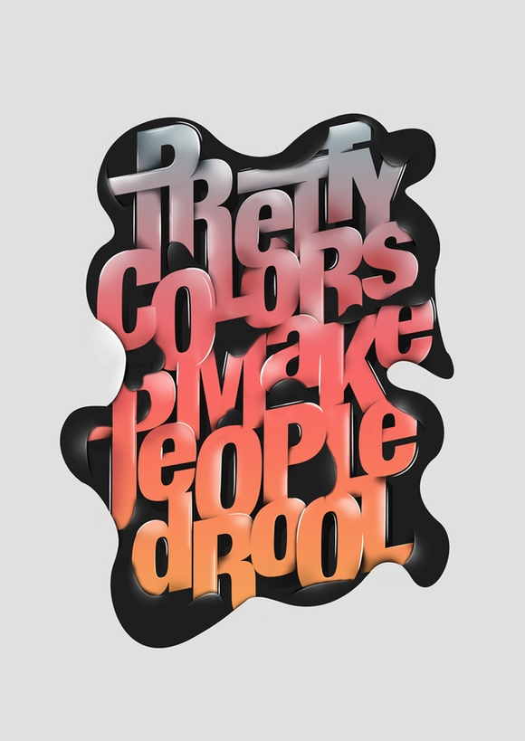 Drool - typography posters