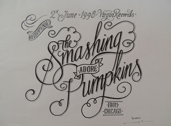 Music Lettering - typography design
