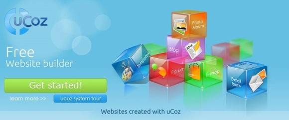 Ucoz - free website builder