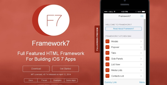 Framework 7 - tools for web designers