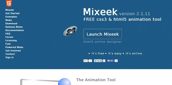 Mixeek - web designing tools