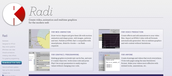 Radi - html5 development tool