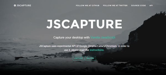 JS CAPTURE - html5 web development tools