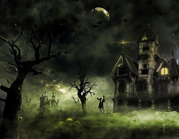 Eerie Haunted House - photo manipulation
