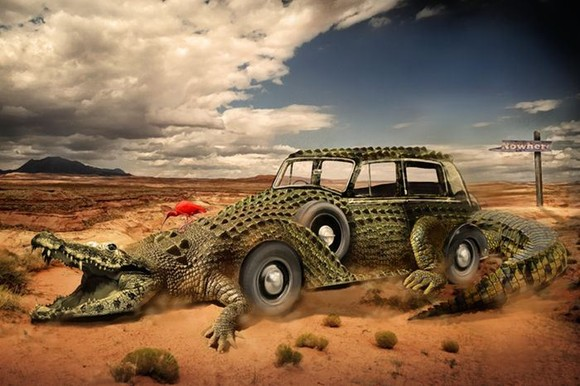 Combine a Crocodile - photoshop tutorials