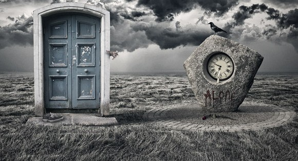 Alone - photo manipulation tutorials