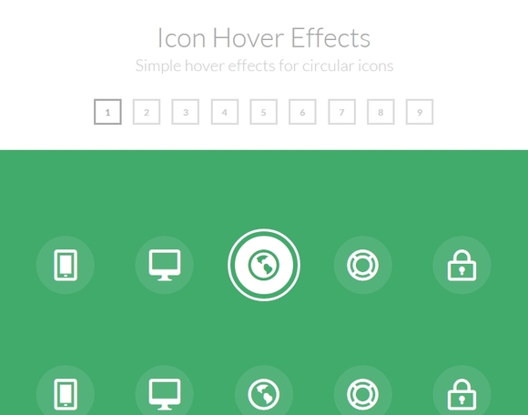Simple Icon Hover Effects