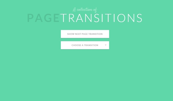 A Collection of Page Transitions - CSS3 tutorial