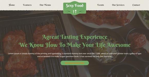 Sexy Food - Restaurant WordPress Theme