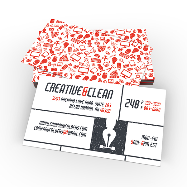 Creative & Clean Folder and Business Card Template - business cards