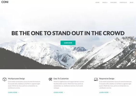 coni best free responsive WordPress business themes