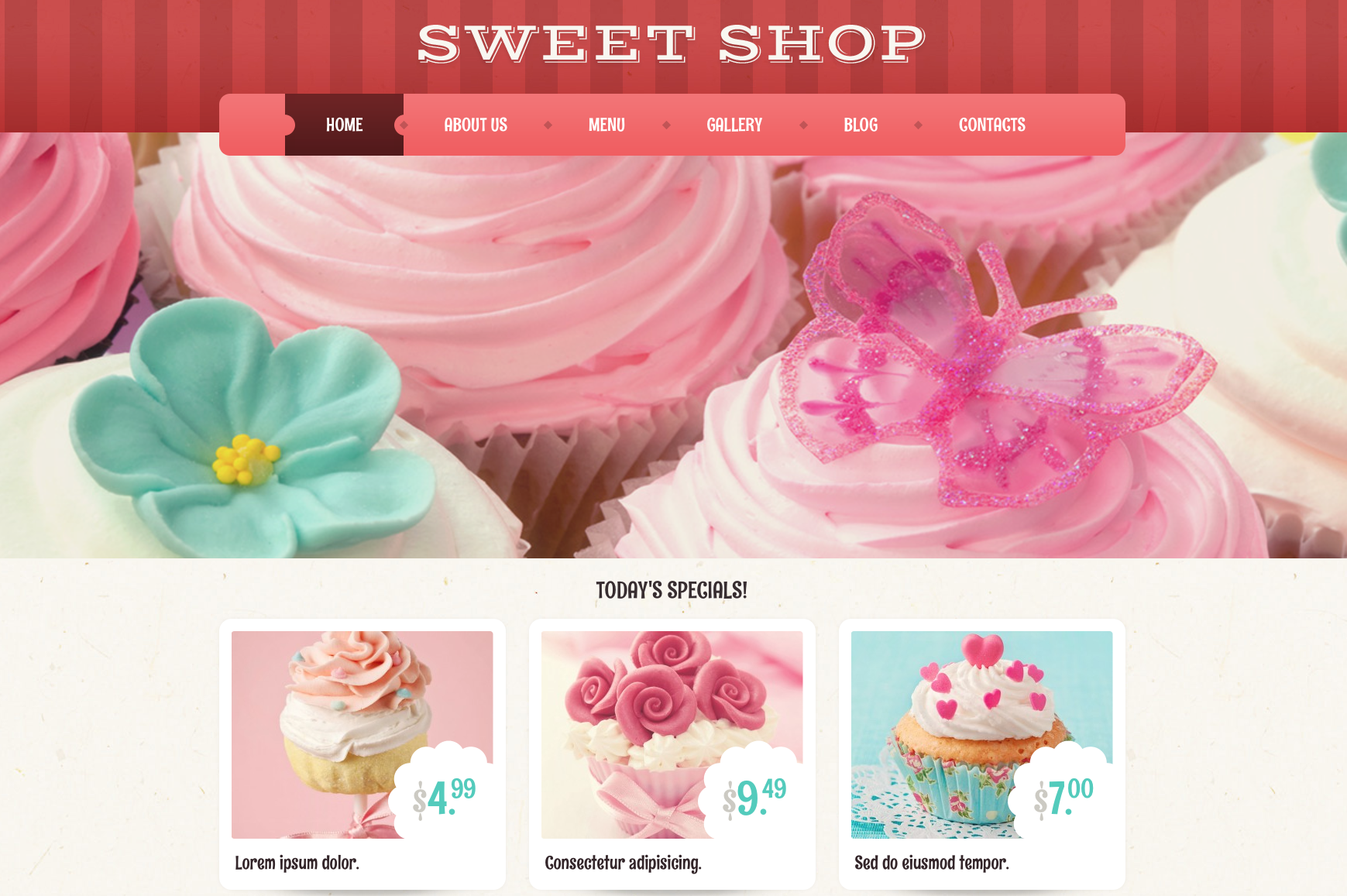Sweet Shop pink theme