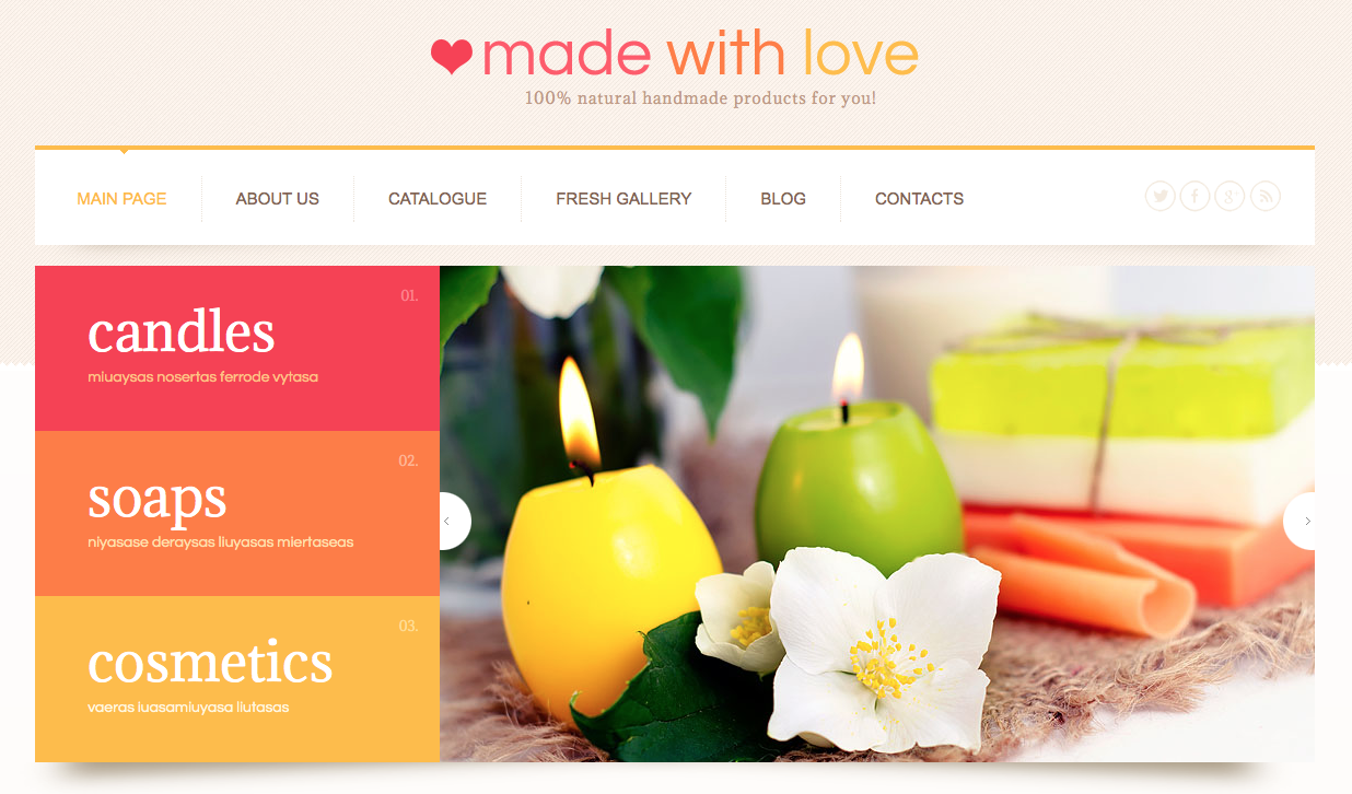 Made with love wordpress theme