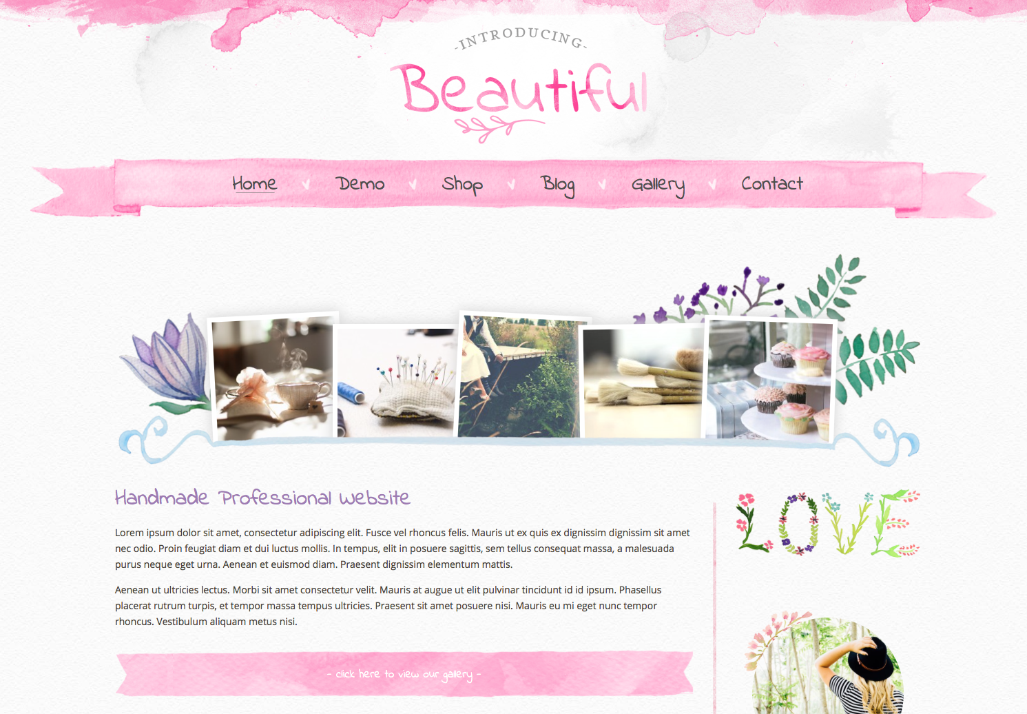 Beautiful word press theme for women