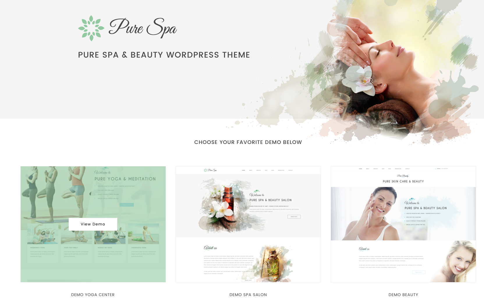 spa and beauty feminine theme for women