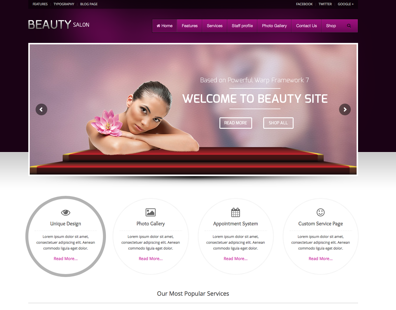 Beauty salon - theme women