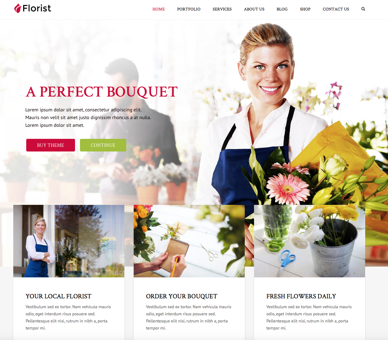 florist wordpress theme for women