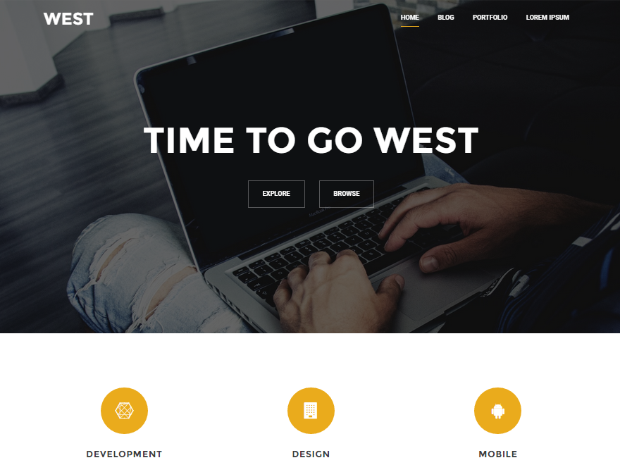 west free responsive WP theme