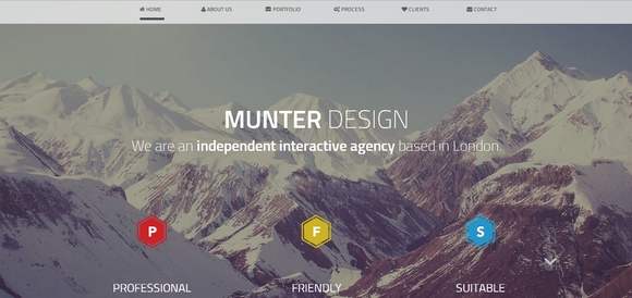 Munter - website templates
