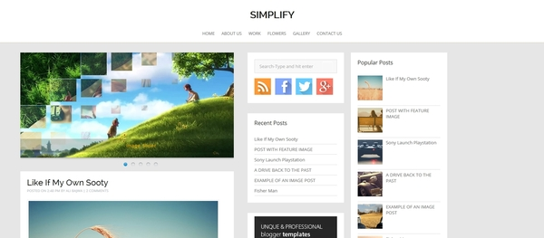 Best Free Blogger Templates 2014 - blogger template