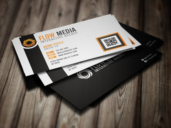 Flow Business Cards in 3 Colors - business cards