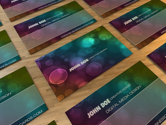 Bokeh Business Card - business card design