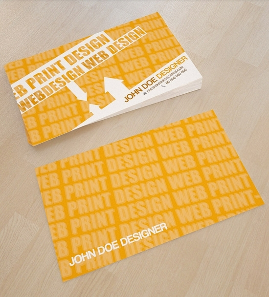Yellow Business Card Template - free business cards