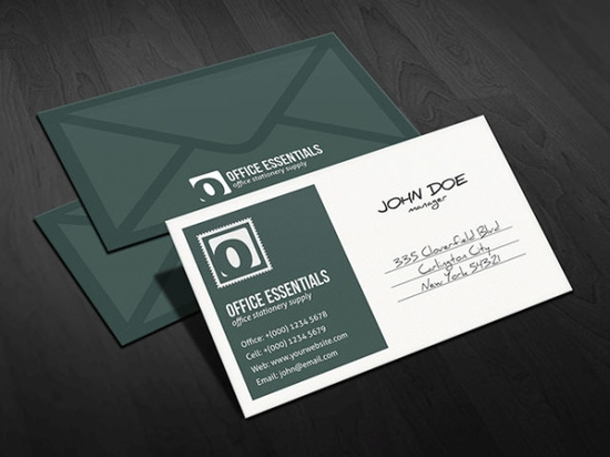 Unique Postcard Inspired Business Card Template - free business card templates