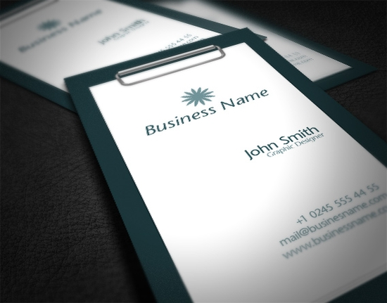 Clean Business Card Templates - unique business cards