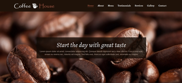 Coffee House - html5 website templates