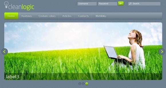 21 best free responsive joomla templates webdesigncone cleanlogic free joomla templates pronofoot35fo Gallery