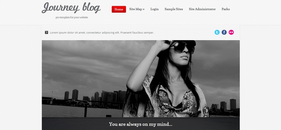 Journey Blog Red - free joomla 2.5 templates