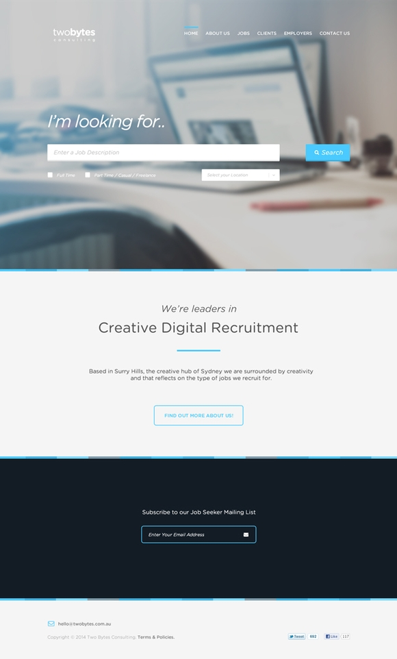 TwoBytes - free psd website templates