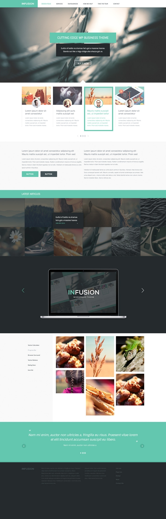 Infusion - free psd website templates