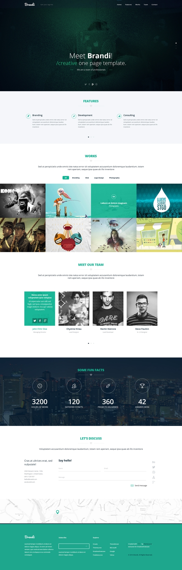 Brandi - free website templates