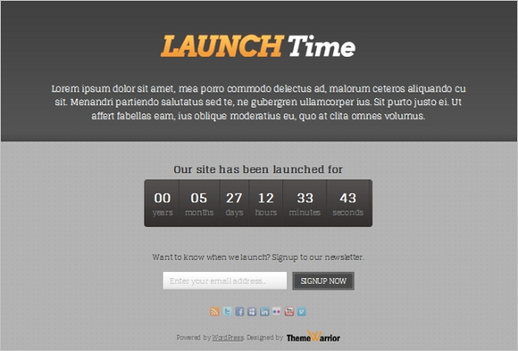 Launchtime - coming soon pages wordpress