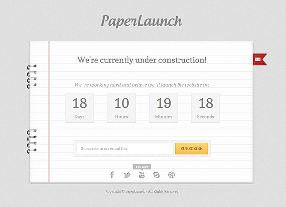 Paperlaunch - coming soon pages design